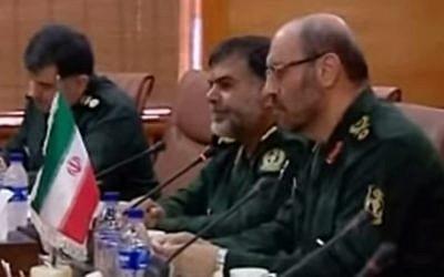 Iranian Defense Minister BG Hossein Dehgan (screen capture: YouTube)