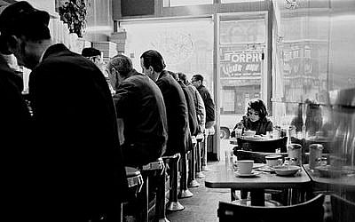 Illustrative: An archival photo of diners at B&H Dairy restaurant on Manhattan's Lower East Side. (Courtesy)