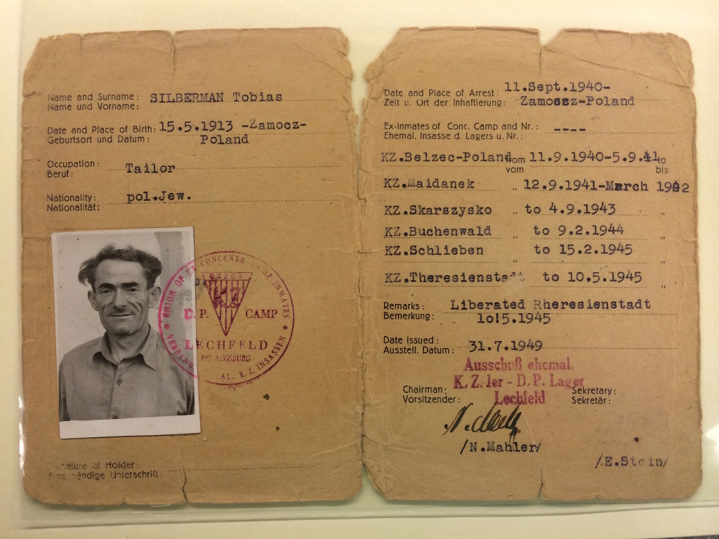 Tobias Silberman's ID, issued by the Allies in 1949 (courtesy)