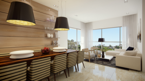 Each floor has two units only, with views to the north-east and south-east (photo: Courtesy)