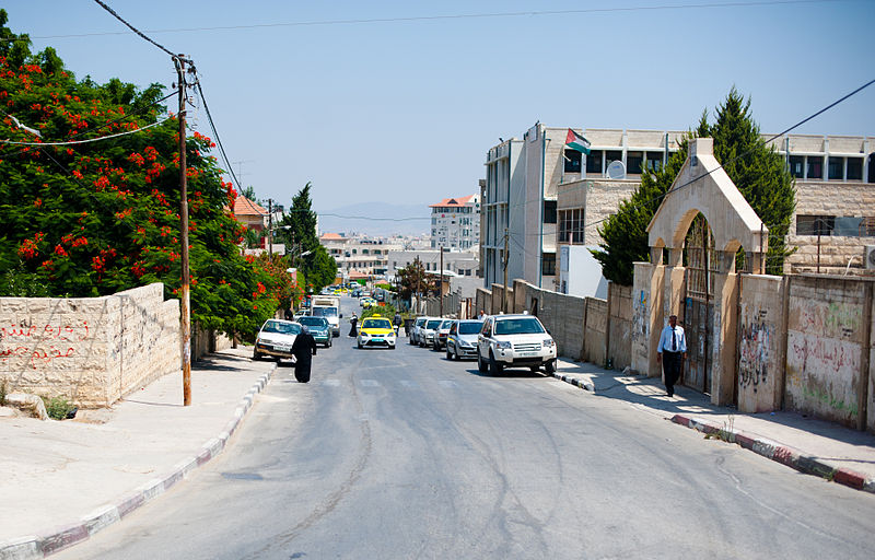 Jenin, street scene (photo credit: Almonroth, Wikipedia)
