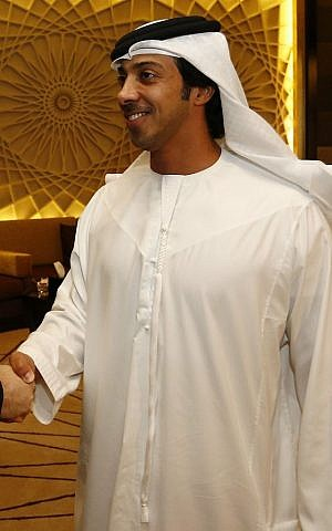 Sheikh Mansour bin Zayed Al Nahyan (photo credit: AM Spindelegger in Abu Dhabi / Wikipedia)