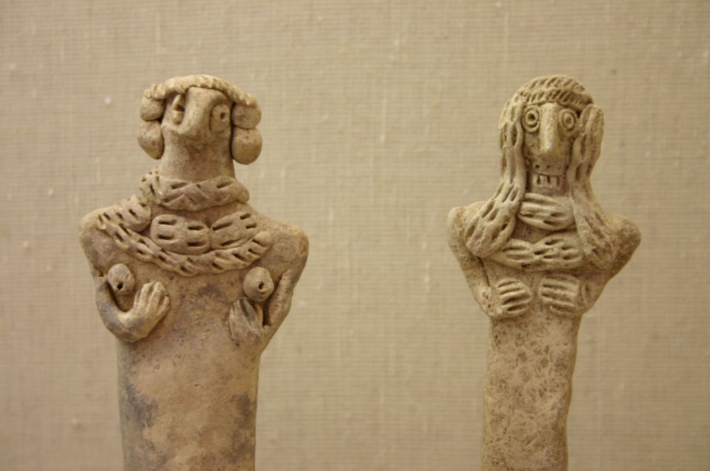Household gods at the Jerusalem Bible Lands Museum (photo credit: Shmuel Bar-Am)