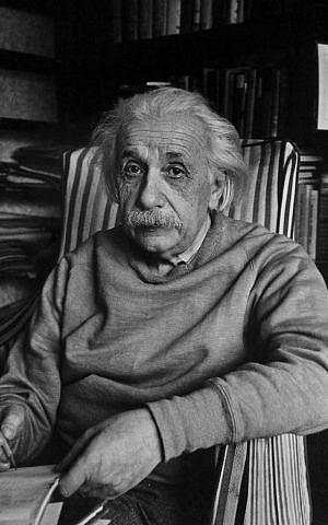 Albert Einstein, pictured here at his home in Princeton, N.J., in 1949. (Alfred Eisenstaedt via CC/JTA)