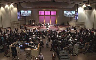 Pastor Mark Biltz's El Shaddai Congregation in Washington during a break from prayer. (courtesy)