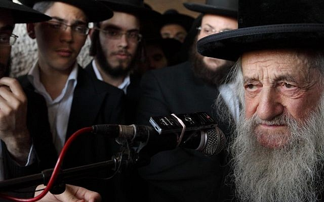 Rabbi Shmuel HaLevi Wosner died Friday, April 3, 2015, at the age of 101. (Photo credit:Yaakov Naumi/Flash90)