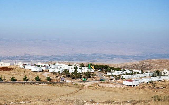 View of the Jewish of Mitzpe Kramim outpost, June 05, 2012. (photo credit: Noam Moskowitz/FLASH90)