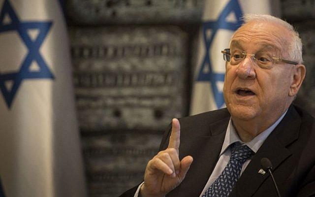 President Reuven Rivlin at the President's Residence in Jerusalem (photo credit: Hadas Parush/Flash90)