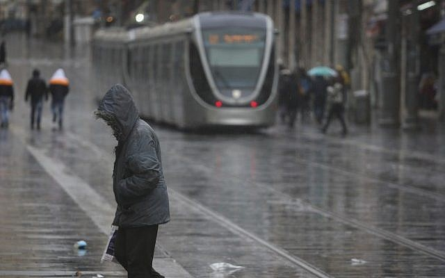 File: Rain in Jerusalem. (Hadas Parush/Flash90)