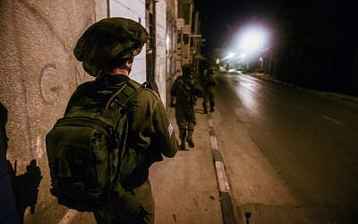 Illustrative photo of an IDF soldier on March 2, 2015 (IDF spokesperson's office)