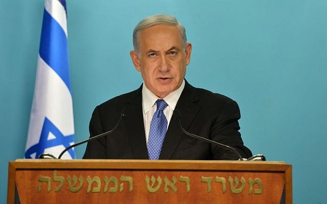 Prime Minister Benjamin Netanyahu speaks out against a nuclear agreement between Iran and world powers, April 03, 2015. (Photo credit: Kobi Gideon/GPO)