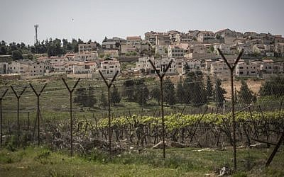 Illustrative: A security fence around a Jewish settlement in the West Bank (Hadas Parush/Flash90)