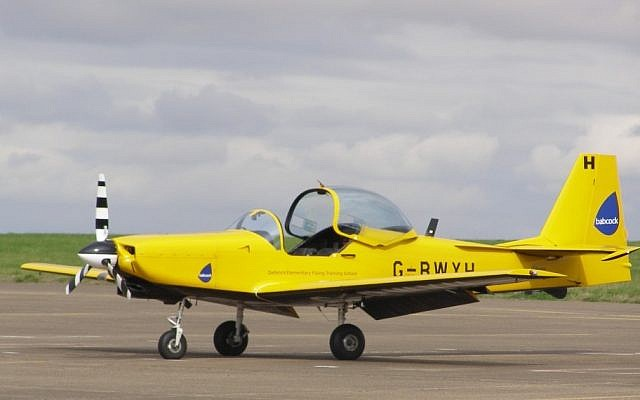 Illustrative image of a Firefly training aircraft. (photo credit: CC ASA 3.0 Wikipedia/MilborneOne)