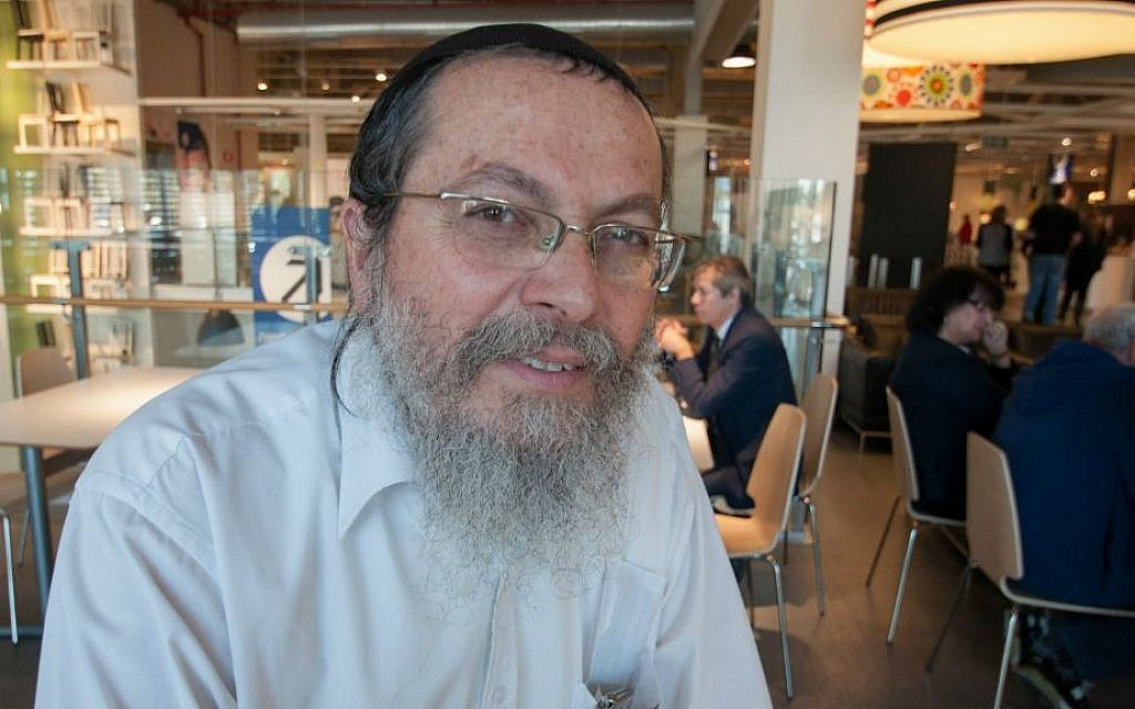 """Gavriel Weinberger, 57, at Ikea, Netanya, from Shavei Shomron: """"...the settlements are the best environment in which to raise kids"""" (Photo credit: Judith Hertog)"""