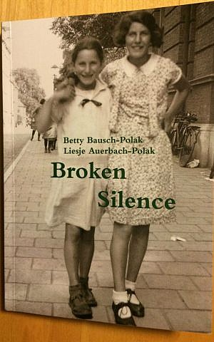 'Broken Silence' memoir by Betty Bausch and her sister Liesje Auerbach. (photo credit: Renee Ghert-Zand/Times of Israel staff)