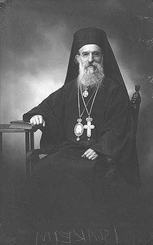 Archbishop Joachim Alexopoulos was recognized by Yad Vashem as a Righteous Among the Nations for his work in saving the Jews of Volos, Greece. courtesy)
