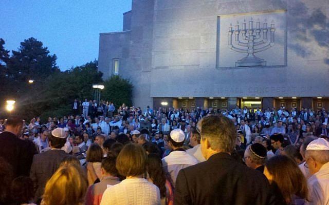 A Kol Nidre service at Adas Israel, Washington's largest Conservative synagogue (David Polonsky/JTA)
