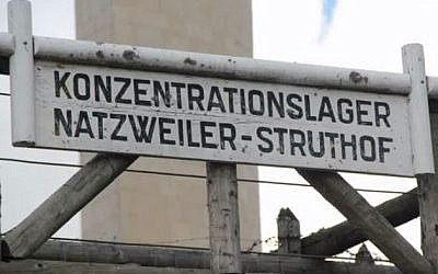 The Natzweiler-Struthof camp in Alsace. (screen capture: YouTube/Outback Snakes)