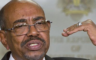 In this Jan. 6, 2014 file photo, Sudanese President Omar al-Bashir speaks after meeting with South Sudan's President Salva Kiir, in the capital Juba, South Sudan. (AP Photo/Ali Ngethi, File)