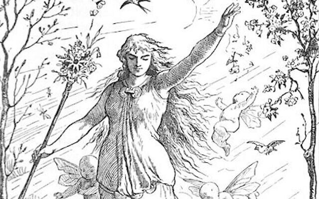 'Ostara' by Johannes Gehrts, created in 1884 and published in 1901. (public domain)