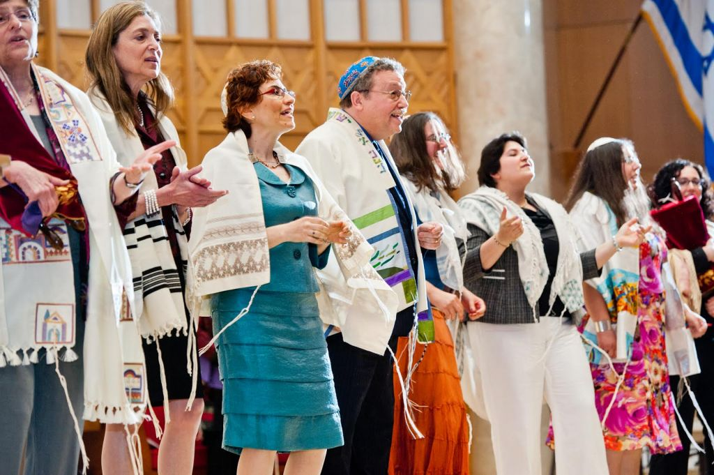 Illustrative photo of rabbis on stage at the Reconstructionist Rabbinical College's 2013 graduation ceremony (Courtesy of RRC/Jewish Reconstructionist Communities/JTA)