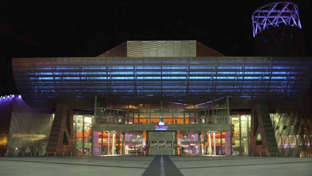 The Lowry Theatre in Salford, where the first performances of 'The Siege' are due to take place in mid-May. (YouTube screenshot)