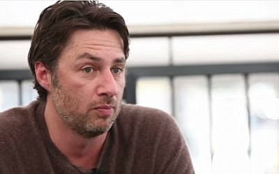 Zach Braff offers to make pizzas for same-sex weddings in Indiana. (YouTube screenshot)