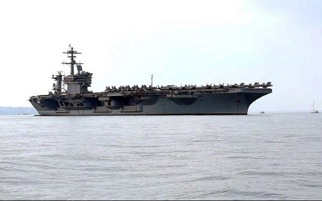 The USS Theodore Roosevelt, file (Photo credit: YouTube screen capture)