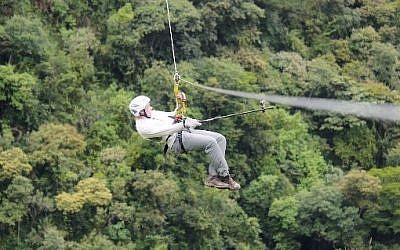 Zip-lining in Peru, illustrative photo (Photo credit: YouTube screen capture)