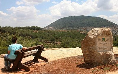 Mount Tabor, viewed from the Beit Keshet Forest (photo credit: Shmuel Bar-Am)