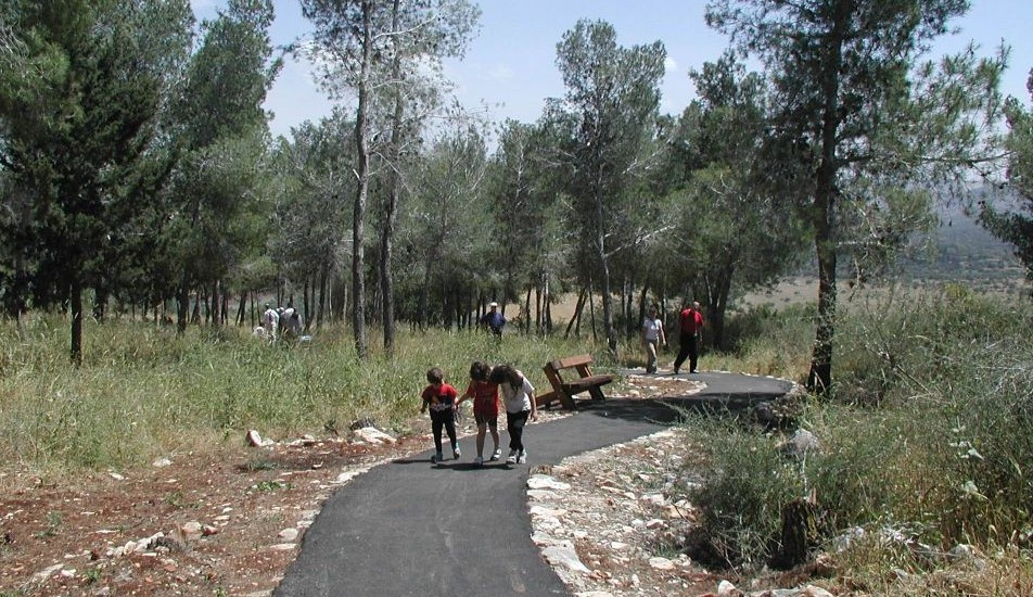 On Beit Keshet's wheelchair-accessible trail (photo credit: Shmuel Bar-Am)