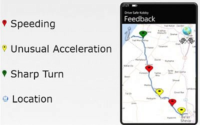 Driving monitor app screenshot (Photo credit: Courtesy)