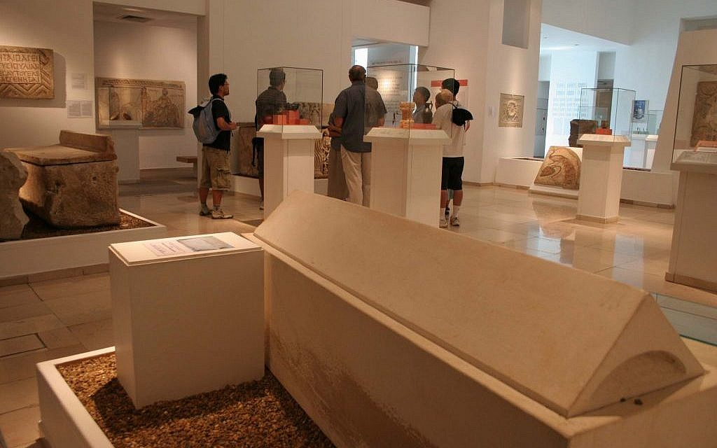Late Second Temple era sarcophagus at the Jerusalem Bible Lands Museum (photo credit: Shmuel Bar-Am)