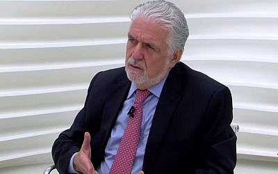Brazil's minister of defense Jacques Wagner, the son of Jewish immigrants from Poland (Photo credit: YouTube screenshot)