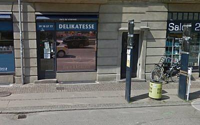 The kosher deli in Copenhagen. (Screen capture: Google Street View)