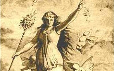 The goddess Ostara, or Ēostre, 1884, by Johannes Gehrts. (photo credit: Wikipedia)