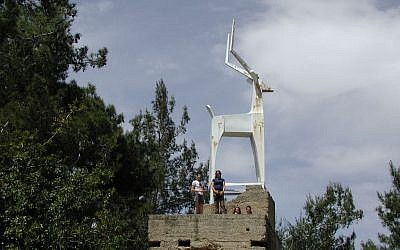 The Gazelle Monument in the forest east of Ma'ale Hahamisha (photo credit: Shmuel Bar-Am)