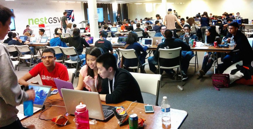 HackGenY's January California hackathon  (Photo credit: Courtesy)
