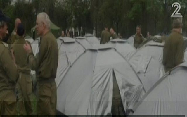 An IDF field hospital in an open field in the capital of Nepal, Kathamndu, on Tuesday, April 28, 2015. The field hospital is the biggest ever established by the IDF, Channel 2 news reported. (Screen capture: Channel 2)