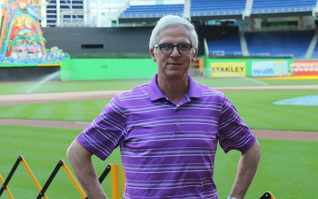 Joel Mael, seen at Marlins Park in Miami, sees long-term success for his club with its new money philosophy. (Hillel Kuttler/JTA)