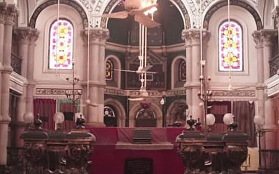 Magen David Synagogue in Kolkata, India (screen capture: YouTube)