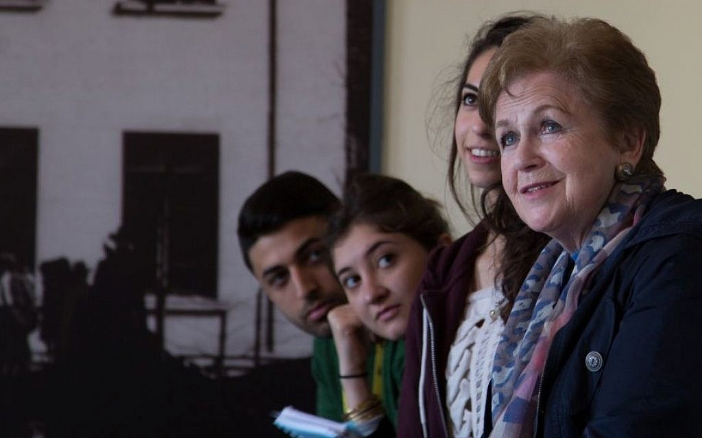 Mala Tribich, far right, with UK students at Galicia Museum, Craców. (Photo credit: Sam Churchill Photography)