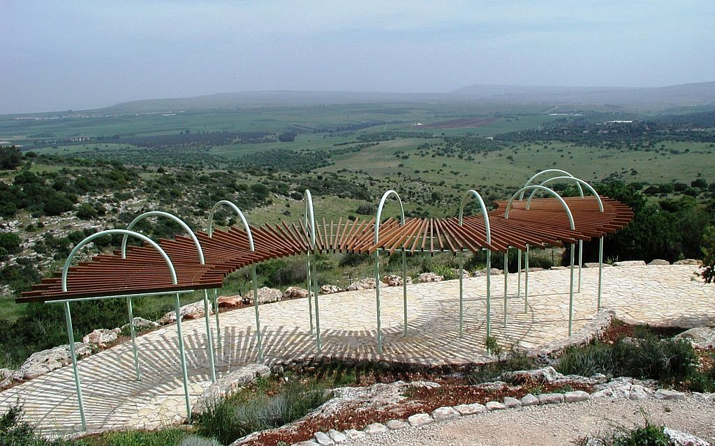One of the many overlooks on the Beit Keshet Forest trail (photo credit: Shmuel Bar-Am)