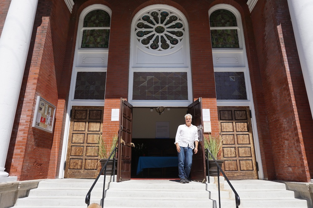 Craig Taubman has opened the Pico Union Project in a historic synagogue building in downtown Los Angeles as a home for cultural, religious and community events. (Anthony Weiss/JTA)