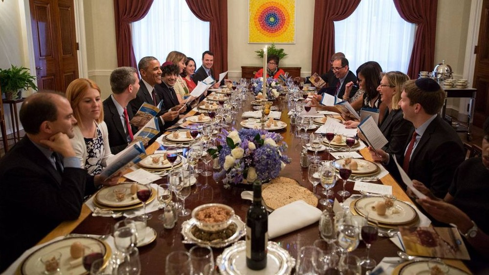 In final passover greeting obama compares exodus to civil rights us president barack obama and first lady michelle obama host a passover seder dinner in the m4hsunfo
