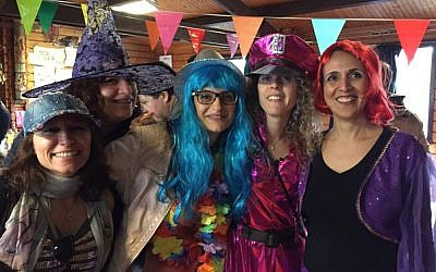 Israelis in the Netherlands celebrating the holiday of Purim at an event organized by the Dutch Israeli scouts movement, Hatsofim. (Courtesy of Hatsofim/JTA)