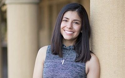 Molly Horwitz, a Stanford junior running for the student senate, says the question about her Jewish identity in an endorsement interview with a university group was over the line. (photo credit: J. weekly via Facebook)