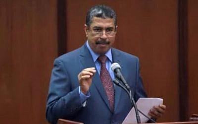Former prime minister of Yemen, Khaled Bahah. (screen capture: YouTube)