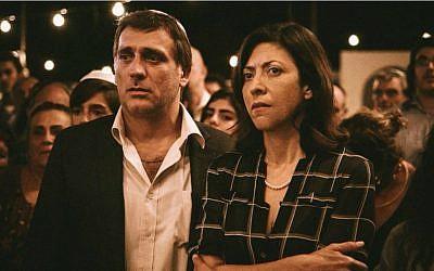 Lior Ashkenazi and Asi Levi of 'Hakafot', the opening film of Cinema South (Courtesy Cinema South)