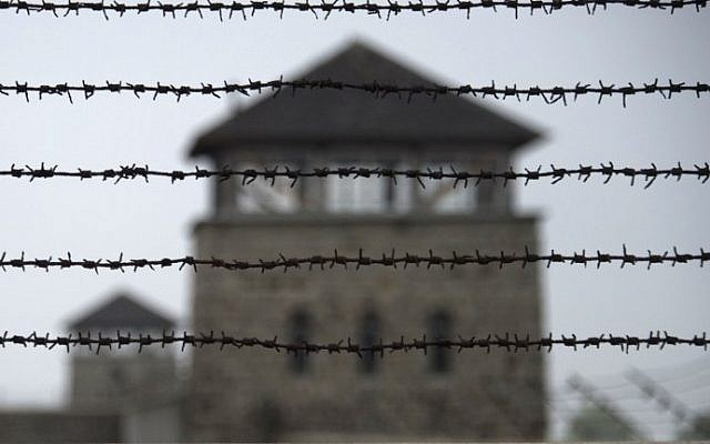 File photo: A picture taken on April 28, 2015, shows a barbed wire fence at a former Nazi concentration (Joe Klamar/AFP)